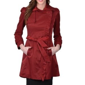 Jessica Simpson Cabernet Belted Trench Coat